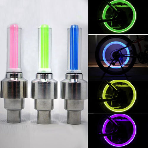 1 Pair Fashion Cycling Bike Bicycle Wheel Tire Valve Flashing LED Bright Light Lamp