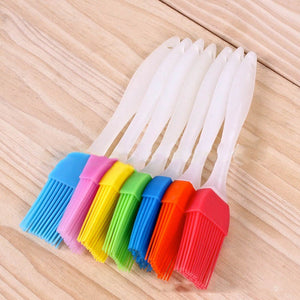 4 Pcs Silicone BBQ Utensil Basting Pastry Bread Oil Silicone Brush Baking Cooking