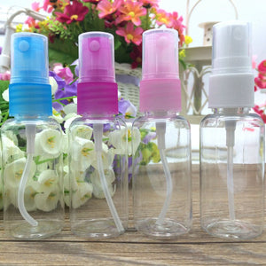 4Pcs Transparent 30ml Beauty Gadget Plastic Fragrance Atomizer Bottles Travel Cosmetic Spray Bottle Refillable Bottles Set