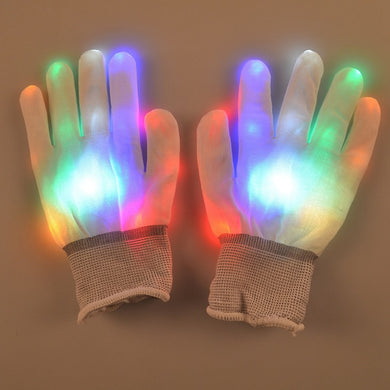 1 Pair LED Gloves Finger Lights Toys Flashing Gloves Glow Up Finger Lighting Gloves For Party