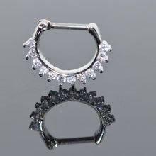 New Fashion Surgical Steel Crystal Septum Clicker Nose Ring Hoop Body Jewelry