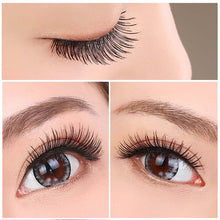 Soft Natural Cross Handmade Long Eye False Eyelashes 10 Pairs Black
