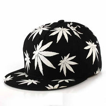 Maple Leaf Luminous Snapback Baseball Hat Glow In The Dark Fashion Hip-hop Cap