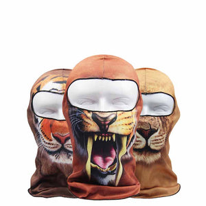 3D Animal Outdoor Bicycle Motorcycle Windproof Creative Full Face Mask