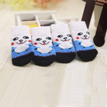 4 Pcs Lovely Non-slip Pet Socks Colorful Knit Dogs Cats Footwear
