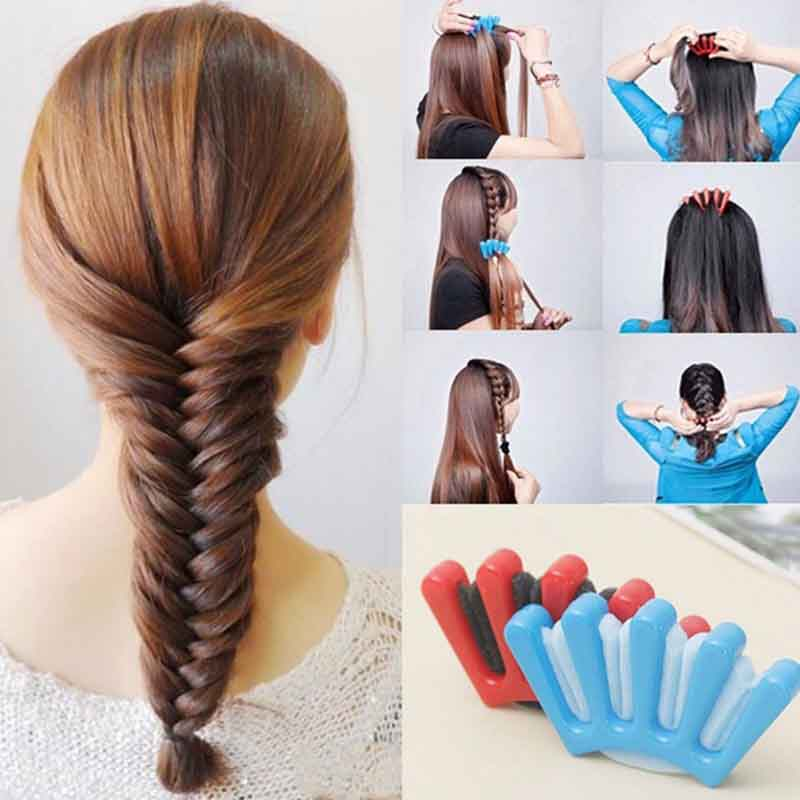 DIY Sponge Plastic Hair Braider Hairstyle Hairpin Salon Tool