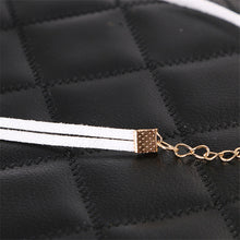 Fashion Women Harajuku Style Circle Leather Collar Vintage Black Cloth Design Elegant Jewelry Charm Necklaces