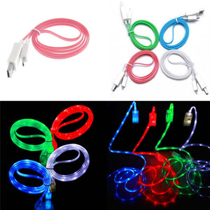 Glow Visible LED Micro USB Charger Data Sync Cable For Samsung Galaxy S4 HTC Android