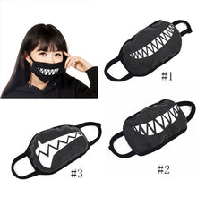 Unisex Cotton Funny Teeth Black Mouth Mask Fashion Half Face Mouth Mask