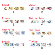 Japanese Washi Tape I Belonged To You Worldwide Famous Buildings Sketching Tape Diy Diary Sticker