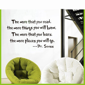 Home Decor The More You Read Proverb Style Wall Sticker Home Art Sticker