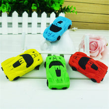 3 Pcs/Set Sports Car Style Eraser Students Eraser Rubber Stationery Kid Gift Toy School Supplies Color Random