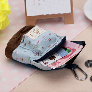 Cute Korean Style Mini Handbag School Bag Style Wallet Purse For Women Key Storage Bag