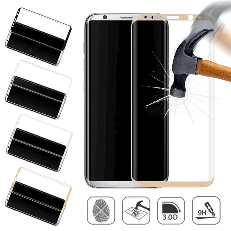9H Full Cover Tempered glass Screen Protector For Galaxy S8 Plus Curved