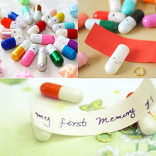 50 PCs/Set Capsule Style Message Bottle Lucky Bootle Love Friendship Pills Bottle Random Delivery