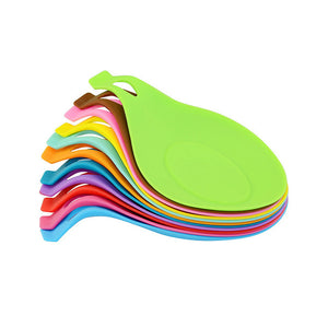 Silicone Material Heat Resistant Spoon Mat Candy Color Tableware Placemat Insulation Mat