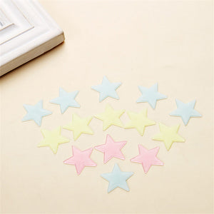 100 pcs Glow in the Dark Star Sticker Fluorescent Wall Stickers Kids Bedroom Decoration Mix Color