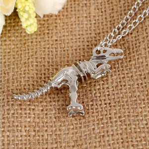Fashion Statement Punk Style Necklace Dinosaur Funky Chain Necklace