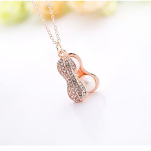 New Jewelry Natural Freshwater Pearls Necklace High-Grade Diamond Necklace Peanut Necklace