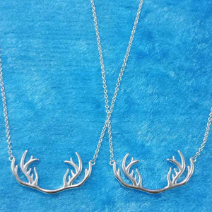 Elk Horn Necklace Birthday Gift Chain Simple Short Chain Fashion Accessories