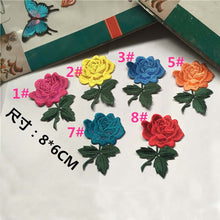 Embroidery Rose Gum Fashion Folk Style Elegant Decorative Decals To Patch The Hole