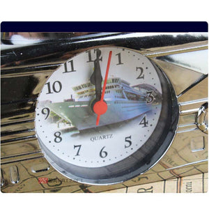 Creative Alarm Clock Model Yacht Retro Small Alarm Clock