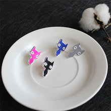 Unisex Creative Cute Cat Brooch Suit Pin Metal Fashion Style Brooches