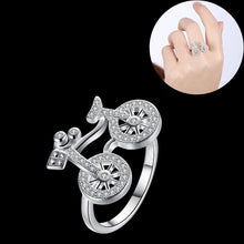 Creative Bicycle Design Ring Cute Bike Finger Ring Charm Jewelry for Women and Men