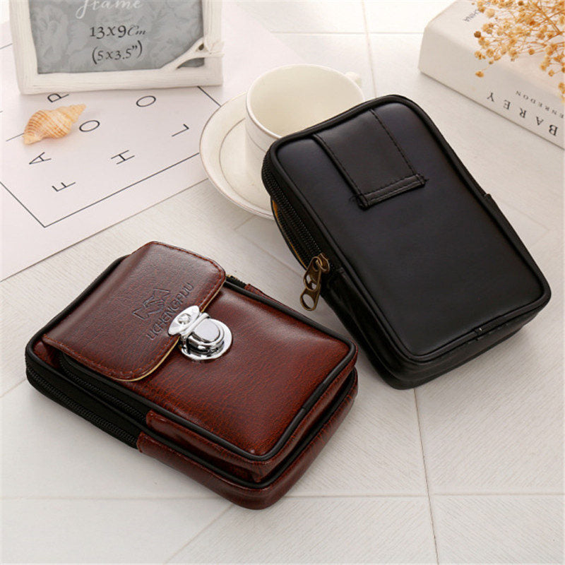 Classic Simple Men's Boys'  PU Leather Pockets Credit/ID Cards Holder Purse Wallet  Logo Random