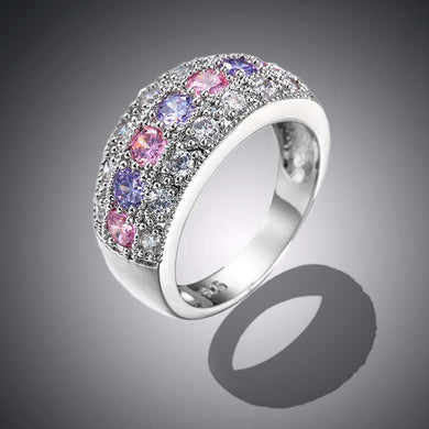 Fashion Exquisite Diamond Zircon Ring Bridal Wedding Rings Jewelry Accessories for Women