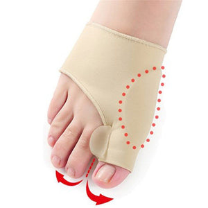 1 Pair Nude Color Foot Health Care Bunion Pads Spandex Gel Corrector Bunion(Size:L,S)