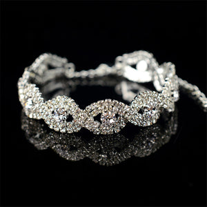 Luxury Austrian Crystal Bracelets Fashion Infinity Rhinestone Bangle Bracelrt for Women