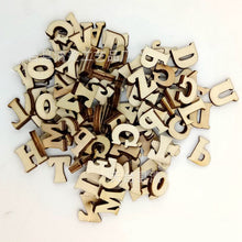 100 Pieces Natural Wooden Capital Letters for Arts Crafts DIY Decoration Displays