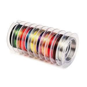 0.3 mm Mixed Colors Bare Copper Wire Jewelry Beading Wire 10 Pieces
