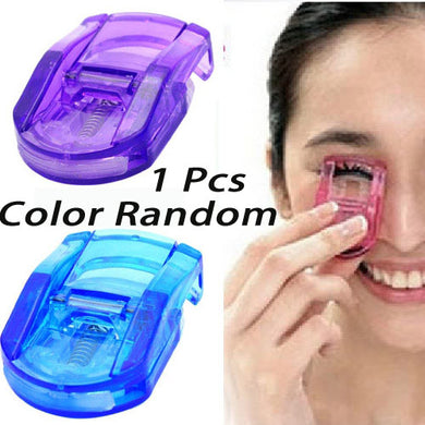 1 Pcs Mini Portable Cosmetic Eyelash Curl Curling Clamp for Woman-Color random
