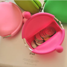 Mini Cute Candy Color Silicone Coin Case/Rubber Wallet/Purse for Ladies - Random Color