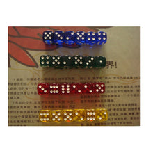 24 Pcs Set 16mm Transparent Colorful Round Corner Dice  - Blue/Green/Red/Yellow