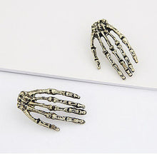 Personality Vogue Earring Ear Stud of Skull Skeleton Hand Shape