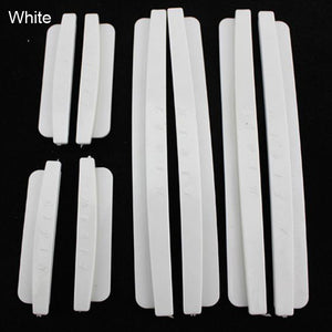 8pcs Car Door Edge Guards Trim Molding Protection Strip Scratch Protector Clear