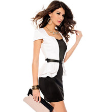 Brand New Cap-sleeves Peplum Dress - White