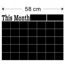 43 x 58cm Diy Monthly Chalkboard Calendar Vinyl Wall Decal Removable Planner Mural Wallpaper Vinyl Wall Stickers