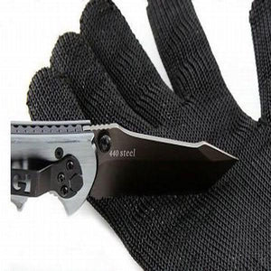Working Protective Gloves Cut-resistant Anti Abrasion Safety Gloves Cut Resistant Level 5 Wild Self-defence Supplies-Black