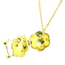 Woman Graceful Flower Long Necklace for Cloth Decoration