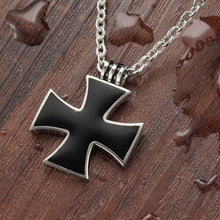 Black Cool Cross Pendant Necklace Men Fashion Jewelry