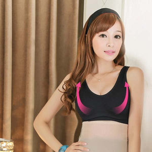 Solid Color Bodyshaper Padded Sport Wrapped Chest Bra Underwear Yoga Vest for Women