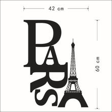 Paris Eiffel Tower Black Wall Stickers Removable Decal Home Art Decoration Mural Wall Decal Home Decor Vinyl DIY Art Decals
