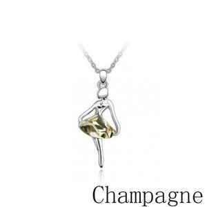 New Dancing Ballerina Dancer Ballet Dance Pendant Necklace Charm Teens Girls