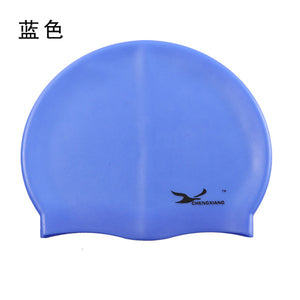 Silicone Waterproof Protect Ears Long Hair Sports Swim Pool Swimming Cap Hat