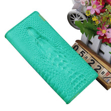 2015 Hot New Women PU Leather Wallet Fashion 3D Alligator Pattern Luxury Ladies Purse Women Clutch