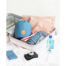 3 Pcs/Set Barrel-Shaped Draw-String Comestic Bag Travel Makeup Bag High-Capacity Storage Case Multifunctional Wash Bag Lady Bolso Handbag